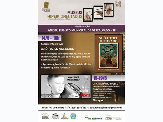 """Foto: Museu Público realiza lançamento do livro 'Nhô Totico Ilustrado"""" durante a 16ª Semana de Museus"""