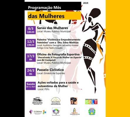 Prefeitura organiza diversas atividades para o 'Mês da Mulher'