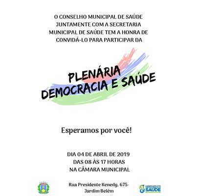 Plenária Democracia e Saúde
