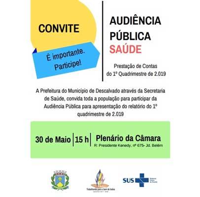 Convite - Audiência Pública Saúde