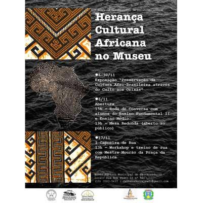 Em comemoração ao mês da Consciência Negra, Museu Municipal fará exposição sobre a cultura e a religiosidade afro-brasileira