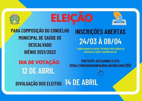 Foto: Estão abertas as inscrições para eleição do Conselho Municipal de saúde - Biênio 2021/2023
