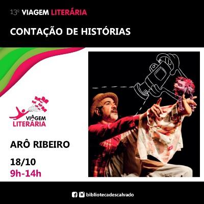 Foto: Descalvado recebe o ator e contador de histórias Arô Ribeiro na 13ª Edição do Viagem Literária na próxima segunda-feira
