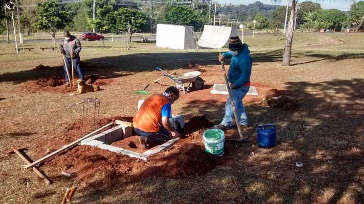 Foto: Secretaria de Esportes inicia a construção de mais uma Academia ao Ar Livre